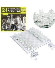 2 en 1 ajedrez y damas inglesas
